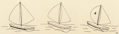 Friend Ships. Sketched by our guest Author!